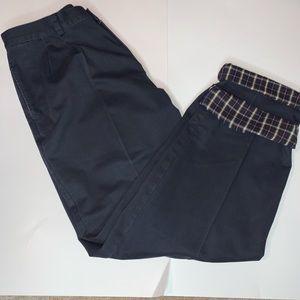 LL Bean Flannel Lined Khaki Chino Pants 36x34